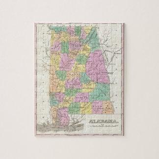 Vintage Map of Alabama (1827) Jigsaw Puzzle