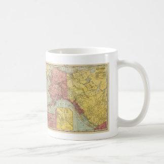 Vintage Map of Alaska and Canada (1901) Basic White Mug