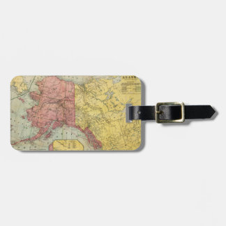 Vintage Map of Alaska and Canada (1901) Luggage Tag