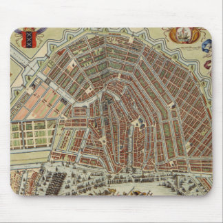 Vintage Map of Amsterdam (1688) Mouse Pad