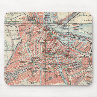 Vintage Map of Amsterdam (1905) (2) Mouse Pad