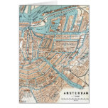 Vintage Map of Amsterdam (1905) Cards