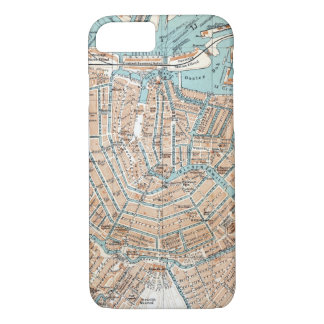 Vintage Map of Amsterdam (1905) iPhone 7 Case