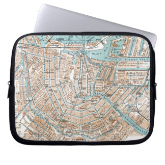 Vintage Map of Amsterdam (1905) Laptop Sleeve
