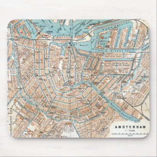Vintage Map of Amsterdam (1905) Mouse Pad