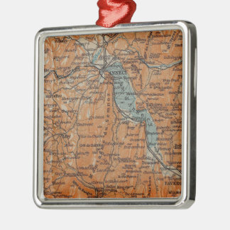 Vintage Map of Annecy France (1914) Christmas Ornament