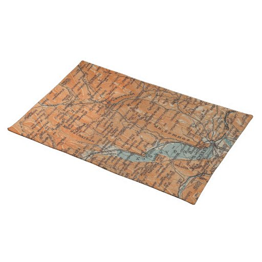 Vintage Map of Annecy France (1914) Place Mats