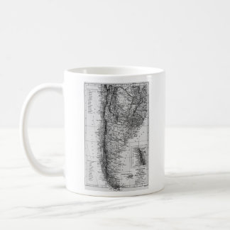 Vintage Map of Argentina (1911) Coffee Mug