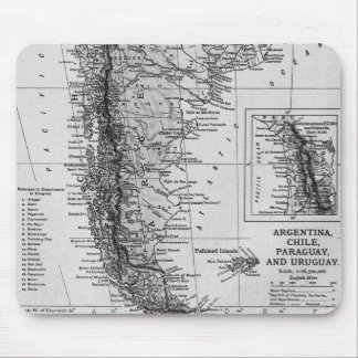 Vintage Map of Argentina (1911) Mouse Pad
