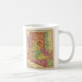 Vintage Map of Arizona (1909) Basic White Mug