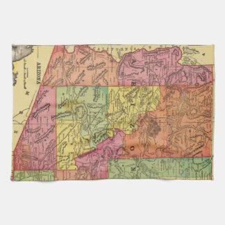 Vintage Map of Arizona (1909) Tea Towel