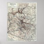 Vintage Map of Arizona (1911) Posters