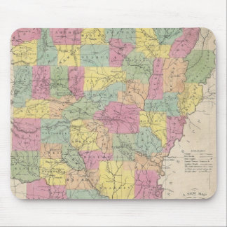 Vintage Map of Arkansas (1853) Mouse Pad