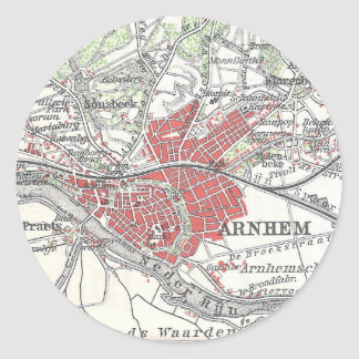 Vintage Map of Arnhem and Surrounding Areas (1905) Classic Round Sticker