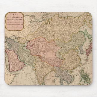 Vintage Map of Asia (1799) Mouse Pad