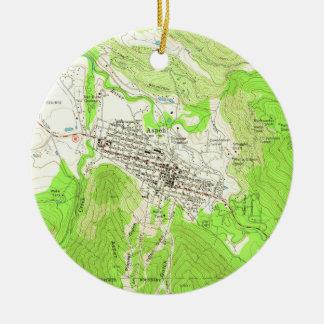 Vintage Map of Aspen Colorado (1960) Christmas Ornament