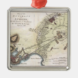 Vintage Map of Athens (1784) Christmas Ornament