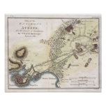 Vintage Map of Athens (1784) Poster