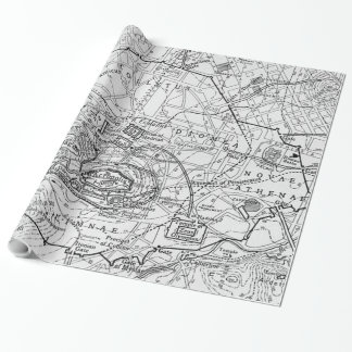 Vintage Map of Athens Greece (1911) Wrapping Paper