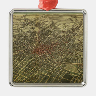 Vintage Map of Atlanta (1892) Christmas Ornament