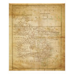Vintage Map of Australasia archival print