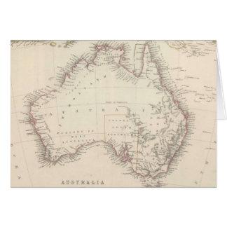 Vintage Map of Australia (1848) Greeting Card