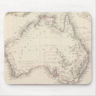 Vintage Map of Australia (1848) Mouse Pad