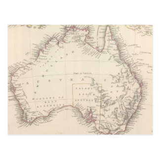 Vintage Map of Australia (1848) Postcard