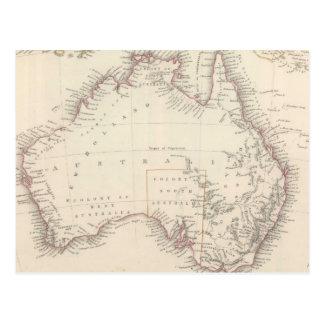 Vintage Map of Australia (1848) Postcard