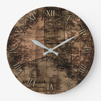 Vintage Map of Australia Large Clock