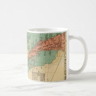 Vintage Map of Baja California (1899) Basic White Mug