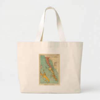 Vintage Map of Baja California (1899) Jumbo Tote Bag