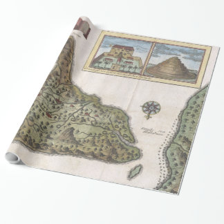 Vintage Map of Bali Indonesia (1760) Wrapping Paper