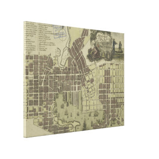Vintage Map of Baltimore Maryland (1805) Canvas Print