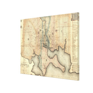 Vintage Map of Baltimore Maryland (1822) Canvas Print