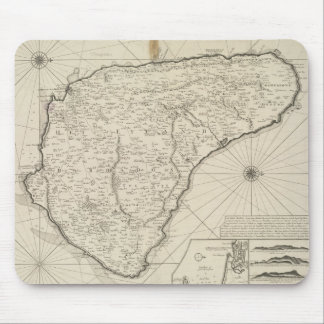 Vintage Map of Barbados (1725) Mouse Pad