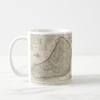 Vintage Map of Barbados (1736) Coffee Mug