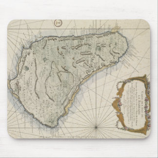 Vintage Map of Barbados (1758) Mouse Pad