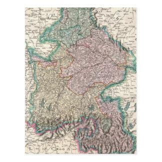 Vintage Map of Bavaria Germany (1799) Post Card