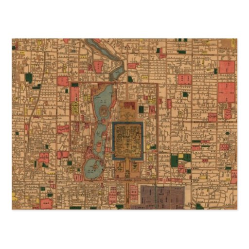 Vintage Map of Beijing China (1914) Post Card