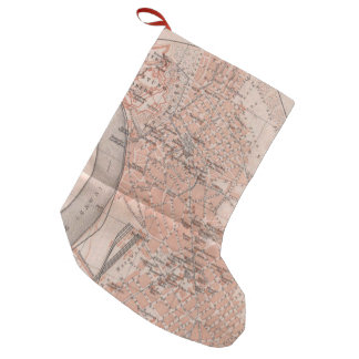 Vintage Map of Belgrade Serbia (1905) Small Christmas Stocking