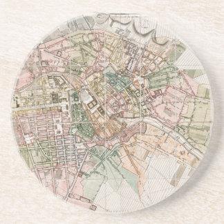 Vintage Map of Berlin (1811) Beverage Coasters