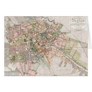 Vintage Map of Berlin (1811) Greeting Card