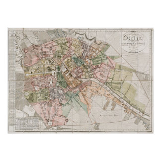 Vintage Map of Berlin (1811) Poster