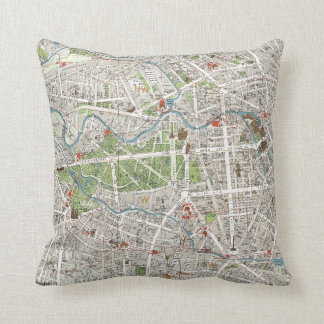 Vintage Map of Berlin Germany (1905) Cushion