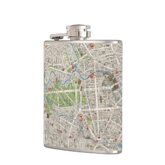 Vintage Map of Berlin Germany (1905) Hip Flask