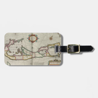 Vintage Map of Bermuda (1638) Luggage Tag