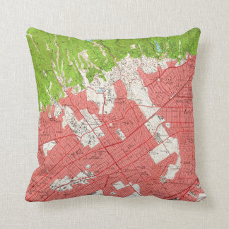 Vintage Map of Beverly Hills California (1950) 2 Cushion
