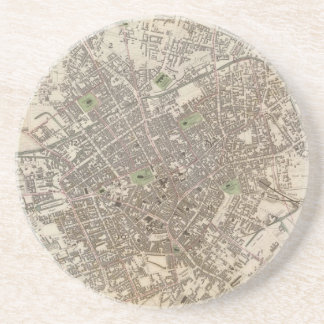 Vintage Map of Birmingham England (1839) Drink Coaster