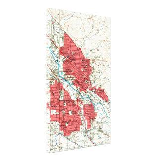 Vintage Map of Boise Idaho (1954) Canvas Print